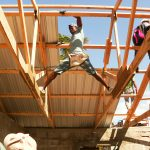 The Haitian roofers left our team in awe of their strength, endurance, and skill.